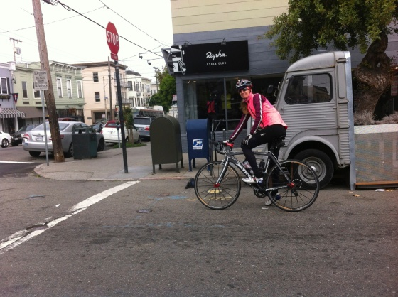 outside the RPAHA Cycle Club in San Francisco